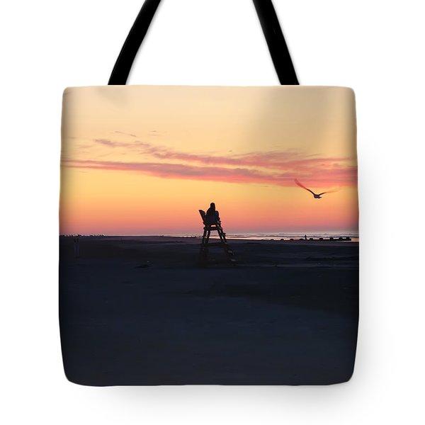 Sunrise Solitude Tote Bag by Bill Cannon