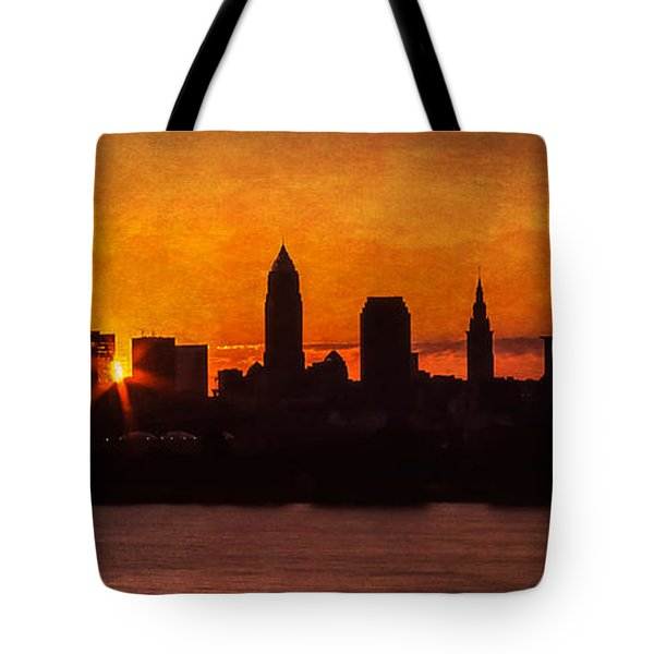 Sunrise Through The City Tote Bag by Dale Kincaid