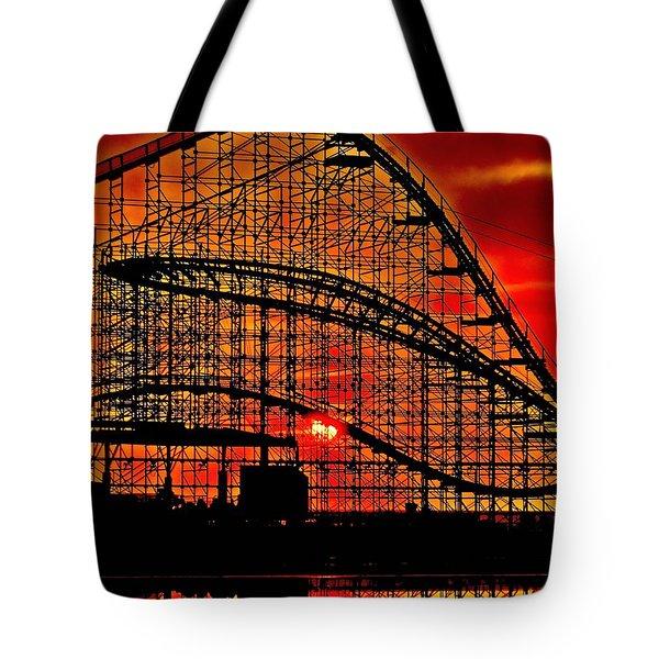 Sunrise Thru The Coaster Tote Bag by Nick Zelinsky