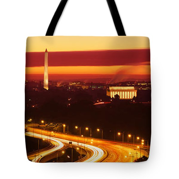 Sunset, Aerial, Washington Dc, District Tote Bag by Panoramic Images