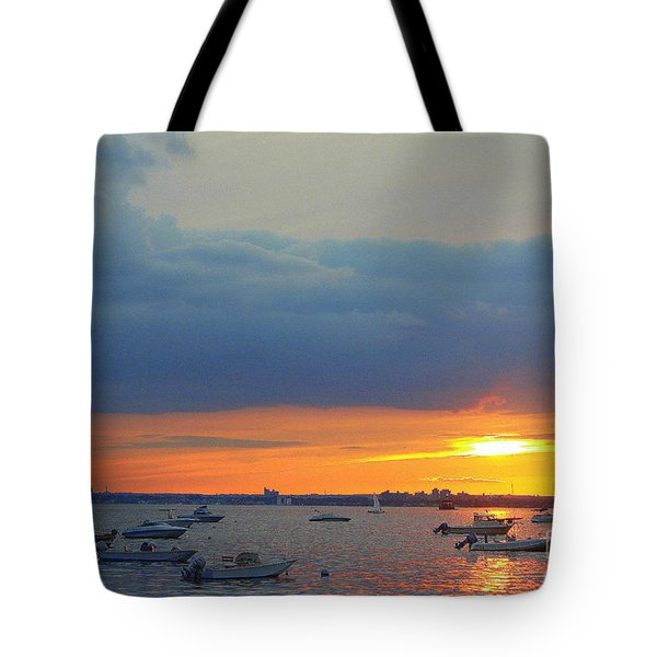 Sunset And Blue Clouds Tote Bag by Dora Sofia Caputo Photographic Art and Design