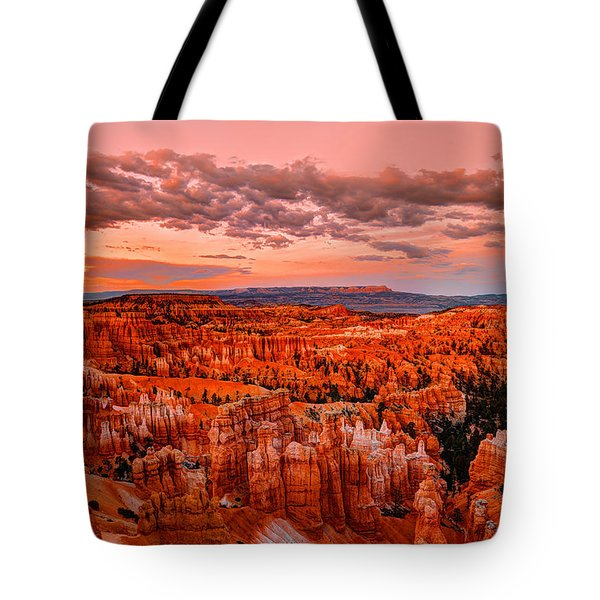 South West Tote Bags - Sunset at Bryce Canyon Tote Bag by Midori Chan