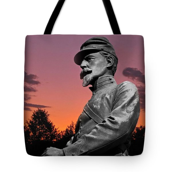 Sunset At Gettysburg Tote Bag by David Dehner