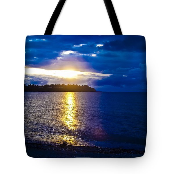 Sunset At Parksville Beach Tote Bag by Christi Kraft