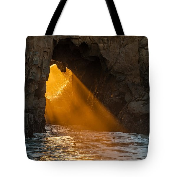 Sunset at Pfeiffer Beach Tote Bag by George Buxbaum