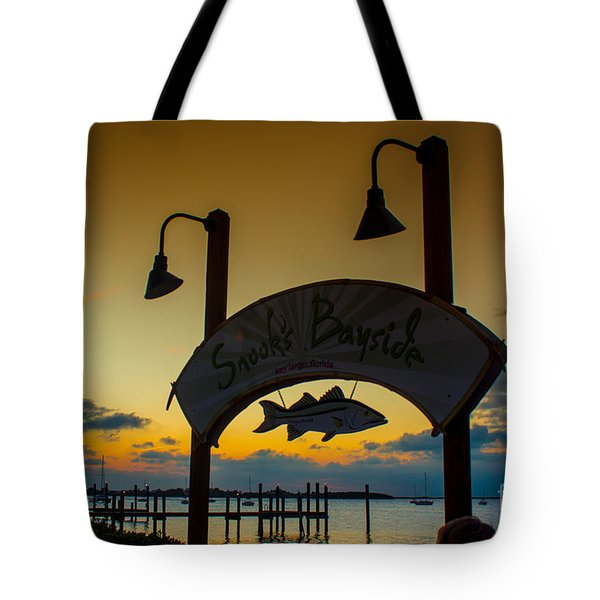 Sunset At Snooks Bayside Tote Bag by Rene Triay Photography
