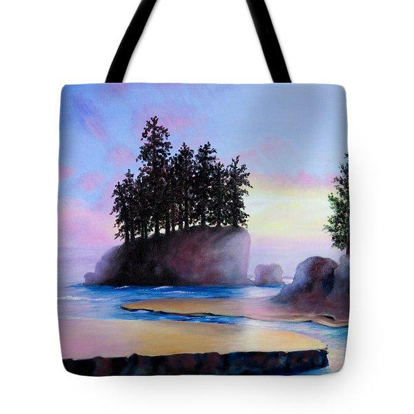 Sunset at Tongue Point Tote Bag by Shelley  Irish