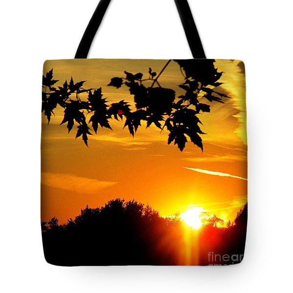 sunset AUSTIN Tote Bag by Tina M Wenger
