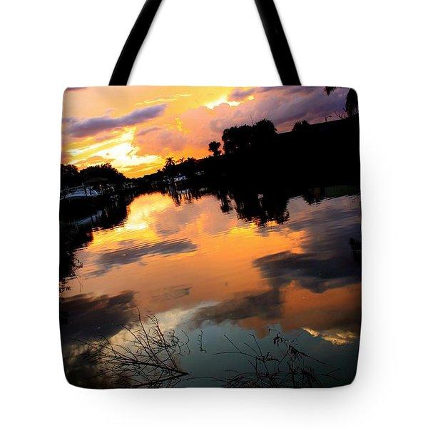 Sunset Bay Tote Bag by AR Annahita