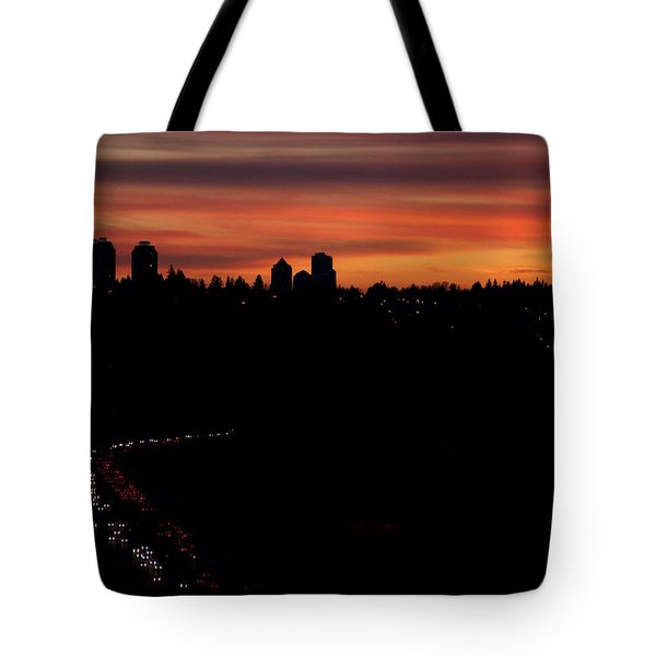 Sunset Commuters Tote Bag by Lisa Knechtel