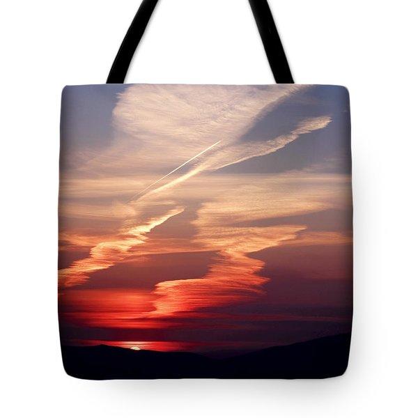 Sunset Dance Tote Bag by Aidan Moran