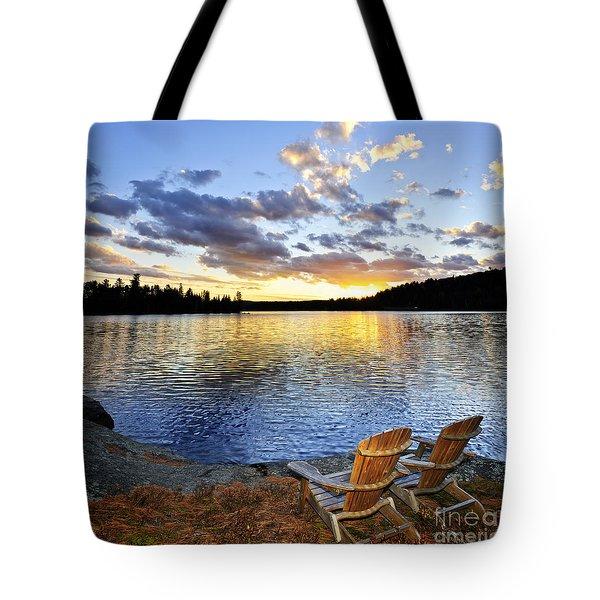 Sunset in Algonquin Park Tote Bag by Elena Elisseeva