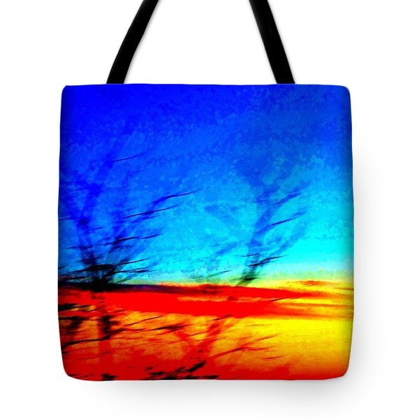 sunset in Oslo Tote Bag by Hilde Widerberg