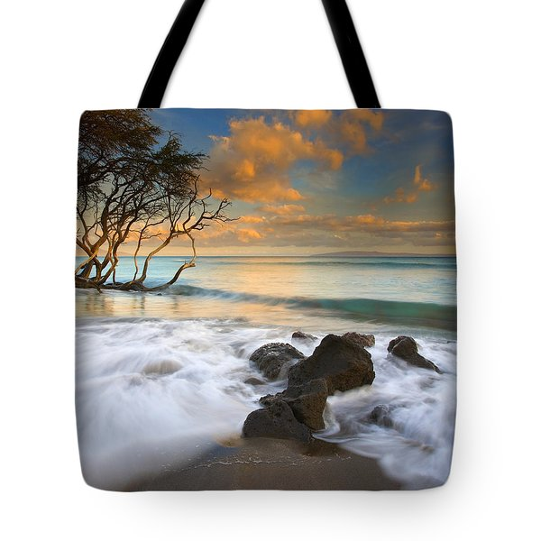 Sunset In Paradise Tote Bag by Mike  Dawson