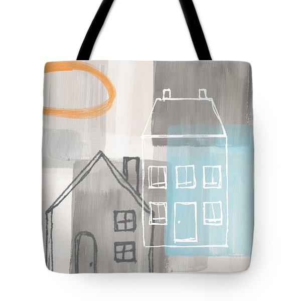 Sunset In The City Tote Bag by Linda Woods