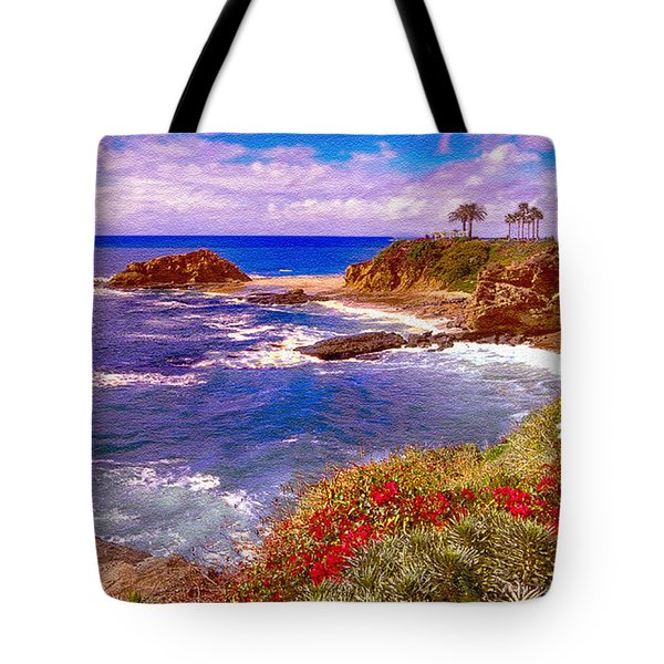Sunset Laguna Beach California Tote Bag by  Bob and Nadine Johnston