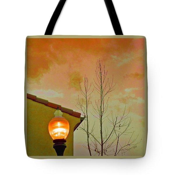 Sunset Lantern Tote Bag by Ben and Raisa Gertsberg