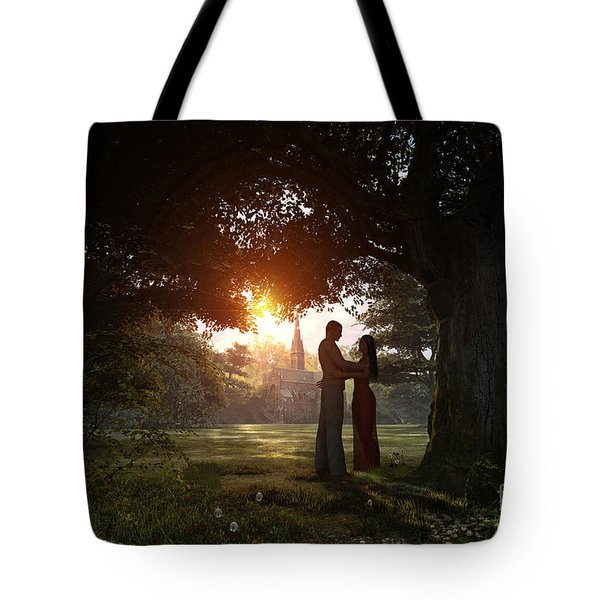 Sunset Lovers Tote Bag by Dominic Davison