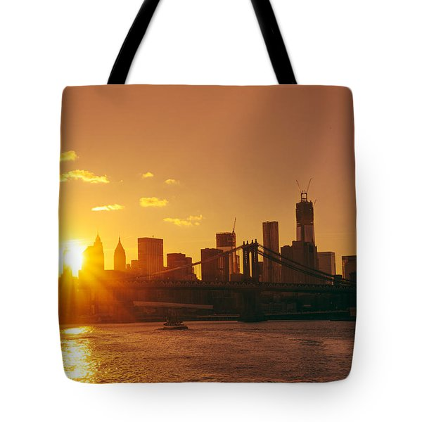 Sunset - New York City Tote Bag by Vivienne Gucwa