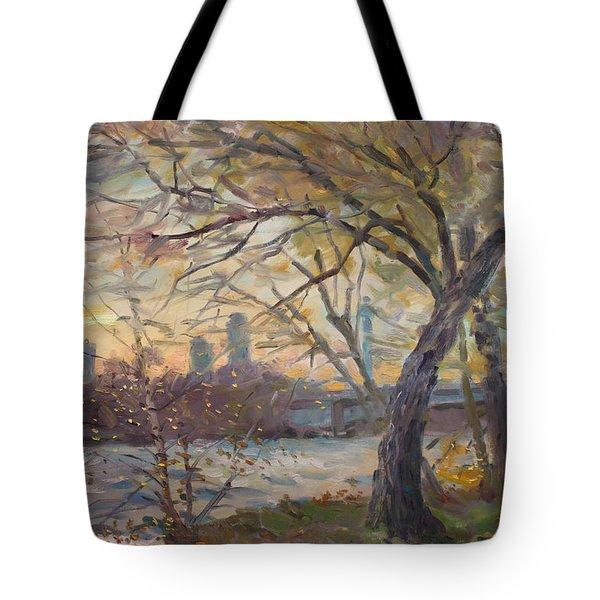 Sunset On Niagara River  Tote Bag by Ylli Haruni