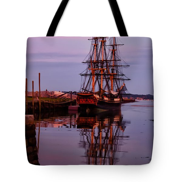 Sunset On The Friendship Of Salem Tote Bag by Jeff Folger