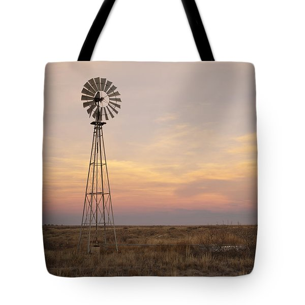 Sunset On The Texas Plains Tote Bag by Melany Sarafis