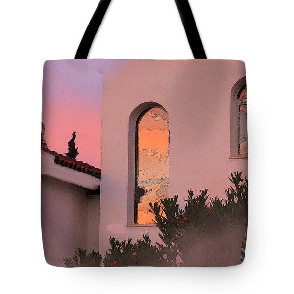 Sunset on Windows Tote Bag by Augusta Stylianou