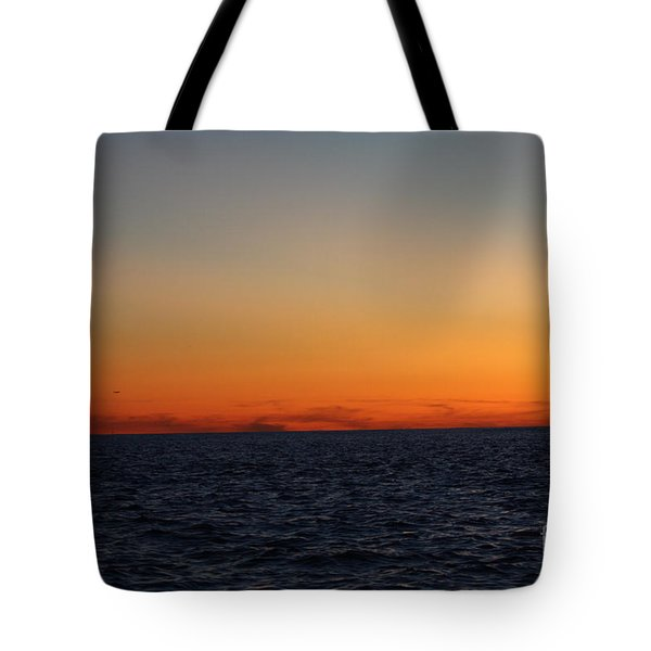 Sunset Over Point Lookout Tote Bag by John Telfer