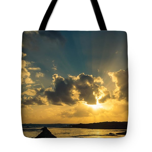 Sunset Over The Ocean Iv Tote Bag by Marco Oliveira