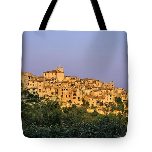 Sunset over Vieux Nice - Old Town - France Tote Bag by Christine Till
