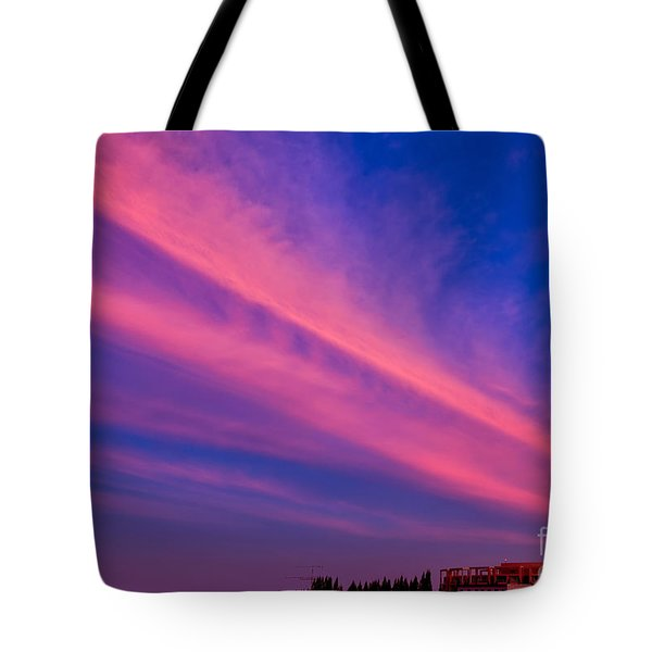Sunset Rays Tote Bag by Adrian Evans