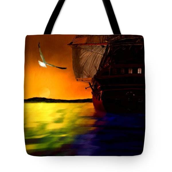 Sunset Sails Tote Bag by Lourry Legarde
