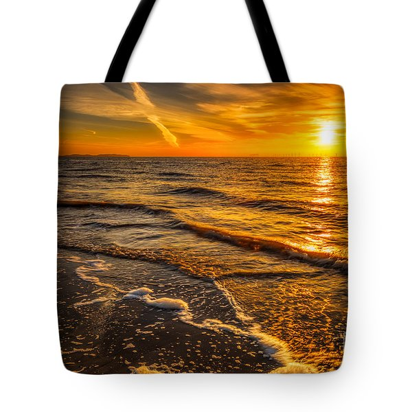 Sunset Seascape Tote Bag by Adrian Evans