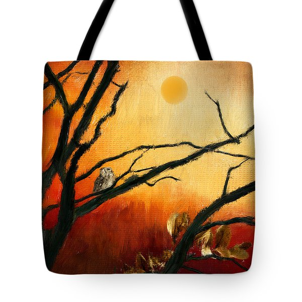 Sunset Sitting Tote Bag by Lourry Legarde