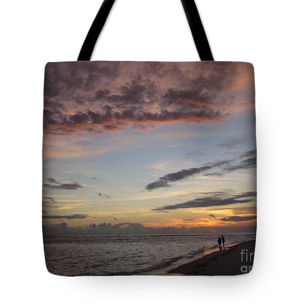 Sunset Stroll Tote Bag by Elizabeth Carr
