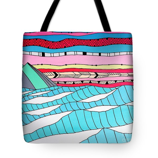 Sunset Surf Tote Bag by Susan Claire