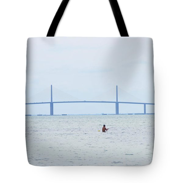 Sunshine Skyway Bridge Tote Bag by Bill Cannon