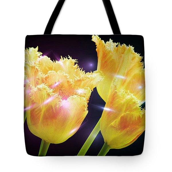 Sunshine Tulips Tote Bag by Debra  Miller