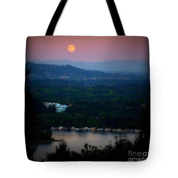 Super Moon River Tote Bag by Susan Garren