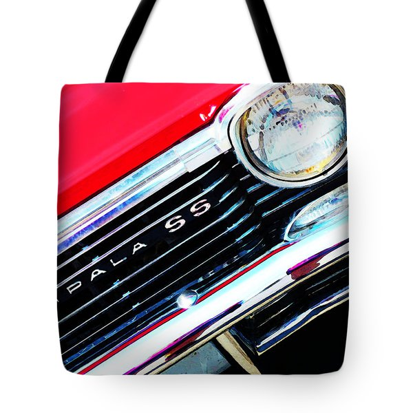 Super Sport 2 - Chevy Impala Classic Car Tote Bag by Sharon Cummings