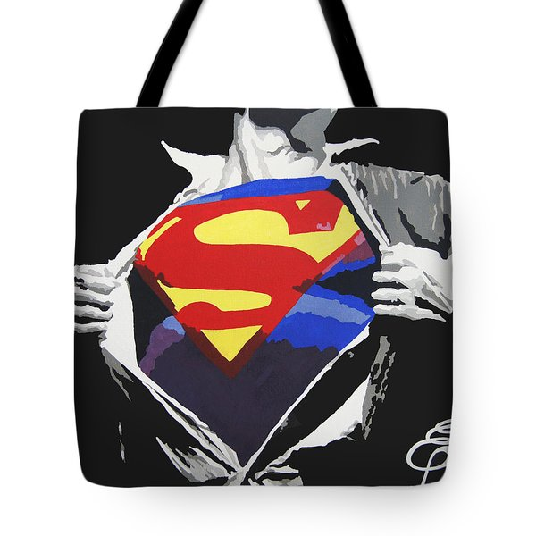 Superman Tote Bag by Erik Pinto
