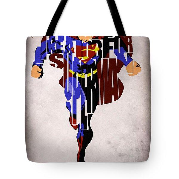 Superman - Man of Steel Tote Bag by Ayse Deniz