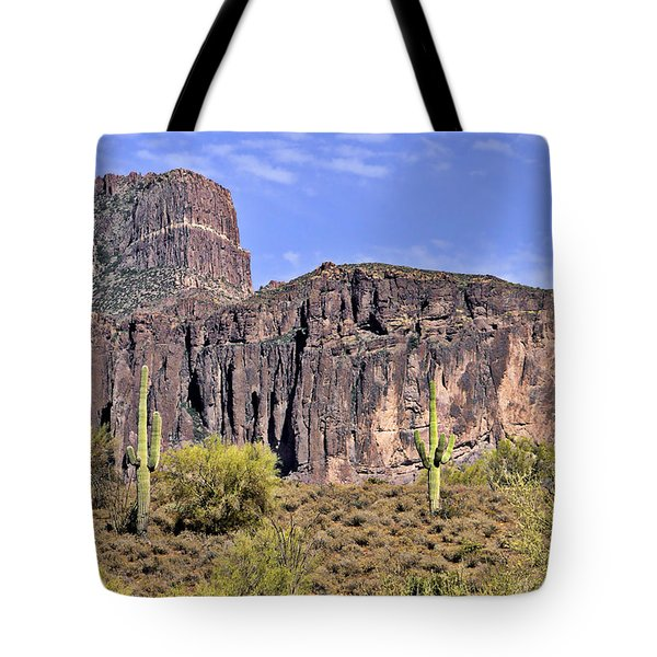 Superstition Wilderness Arizona Tote Bag by Christine Till