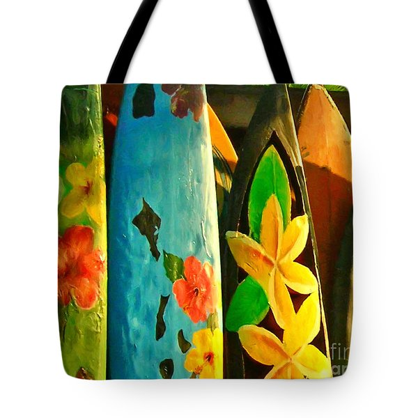 Surf Boards Tote Bag by Wingsdomain Art and Photography