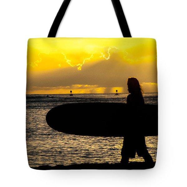 Surfer Dude Tote Bag by Juli Scalzi