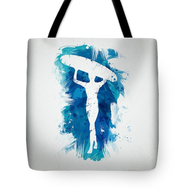 Surfer Girl Tote Bag by Aged Pixel