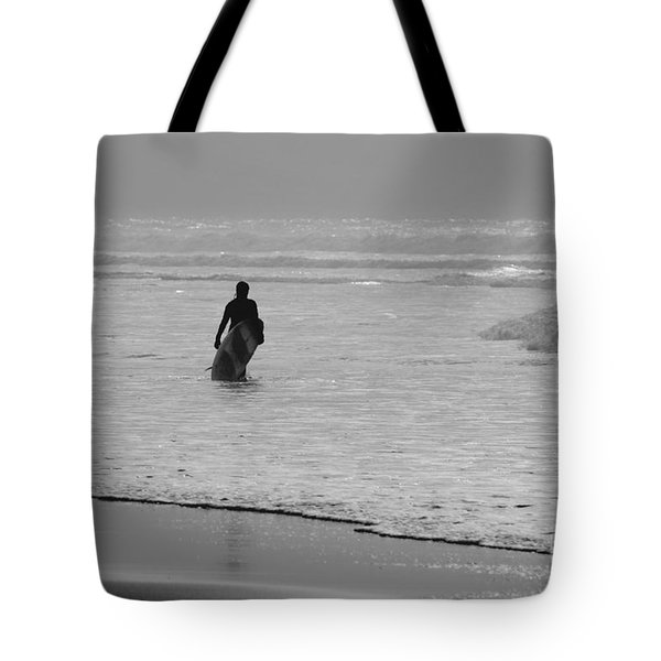 Surfer In The Mist Tote Bag by Terri  Waters