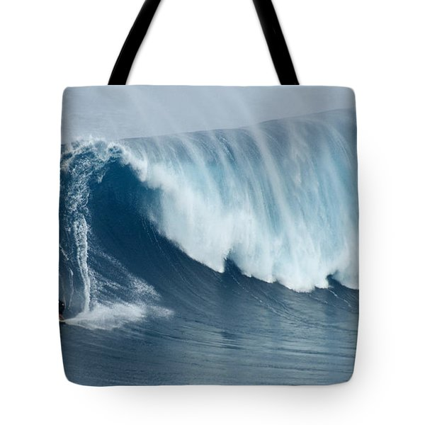 Surfing Jaws 5 Tote Bag by Bob Christopher