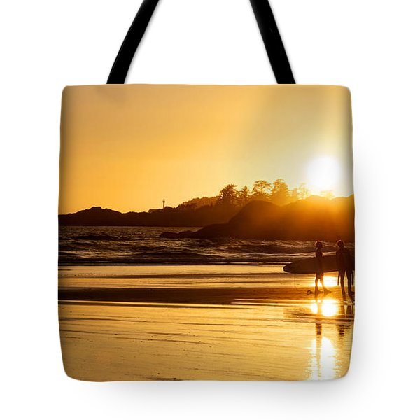 Surfing Reflections Tote Bag by Lisa Knechtel