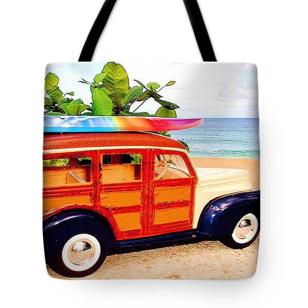 Surf's Up Tote Bag by Jerome Stumphauzer